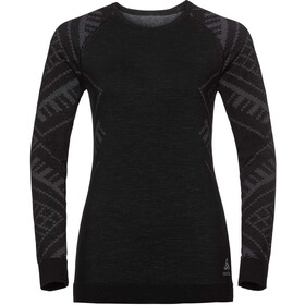 Odlo SUW Natural + Kinship Crew Neck LS Shirt Women, black melange